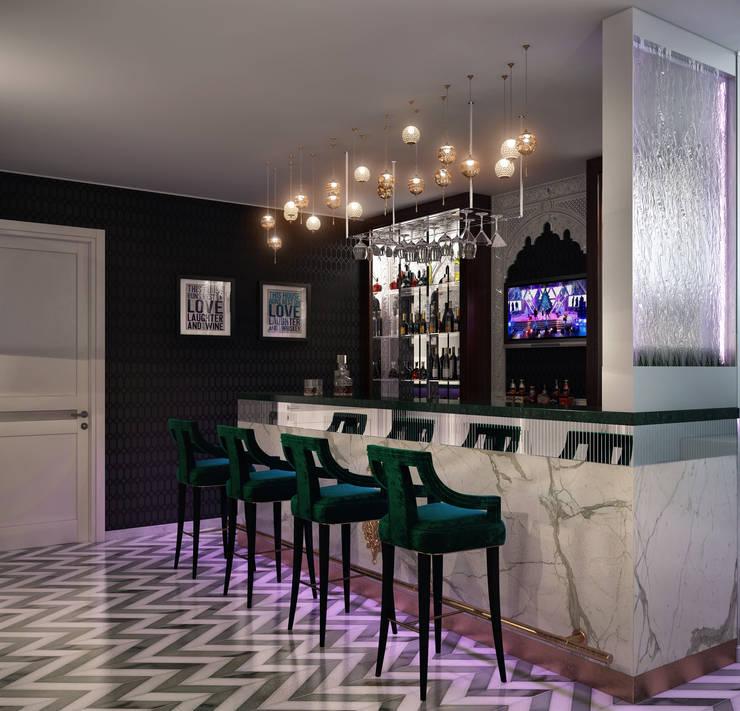 Бар в восточном стиле: Медиа комнаты в . Автор – Sweet Home Design