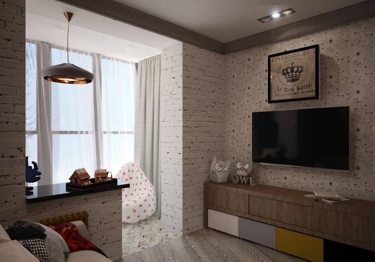 NY loft: Детские комнаты в . Автор – Reroom,