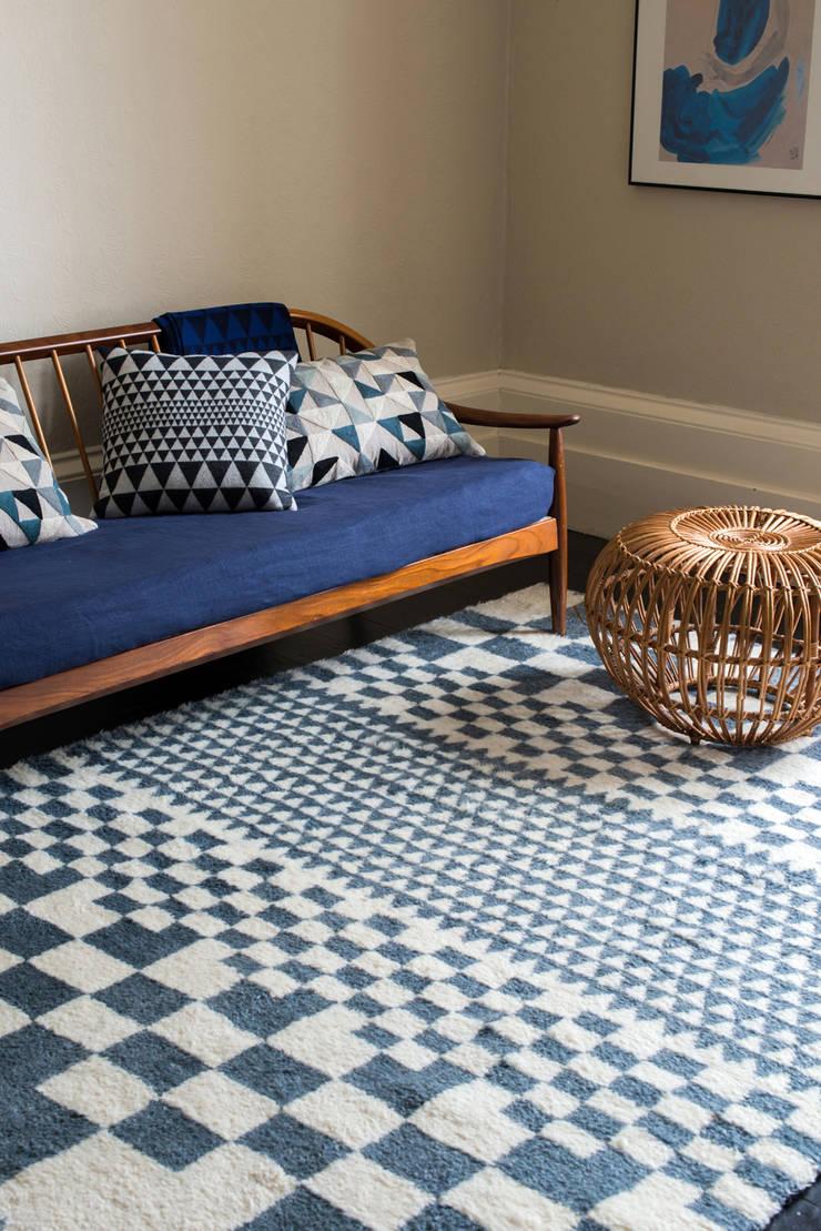 Chess Rug:  Living room by Niki Jones