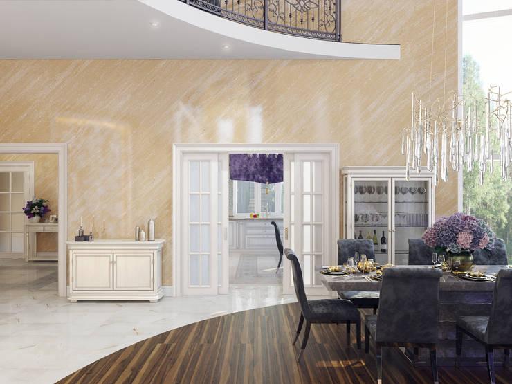 Дом в Павловске: Гостиная в . Автор – Студия дизайна интерьера Маши Марченко