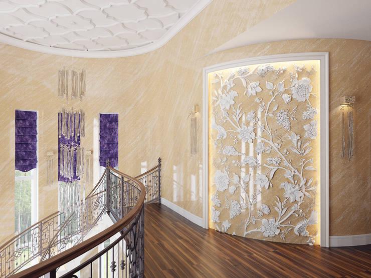 Дом в Павловске: Коридор и прихожая в . Автор – Студия дизайна интерьера Маши Марченко