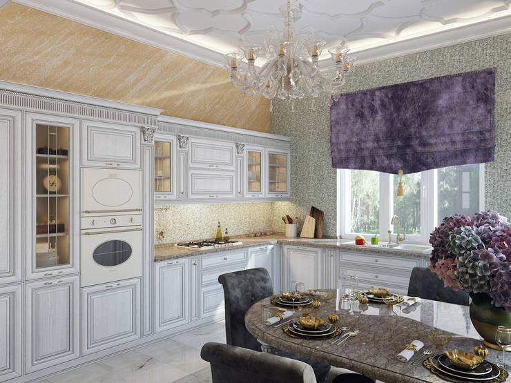 Дом в Павловске: Кухни в . Автор – Студия дизайна интерьера Маши Марченко