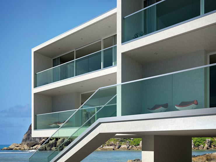 Balconies, verandas & terraces  by IAM Design
