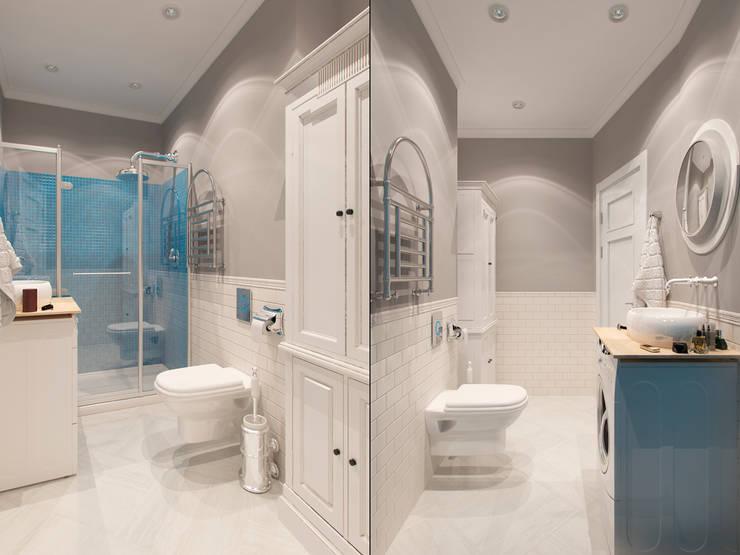 Французский уголок в <q>Балтийской жемчужине</q>: Ванные комнаты в . Автор – Студия дизайна интерьера Маши Марченко, Эклектичный