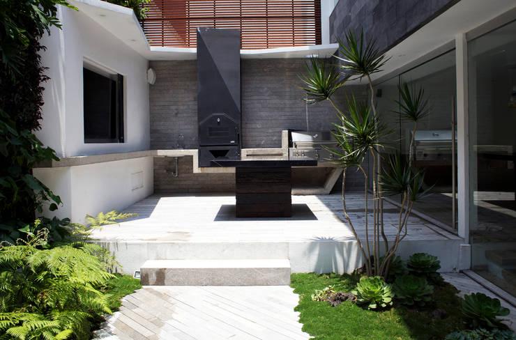 SC-152: Jardines de estilo moderno por DF ARQUITECTOS