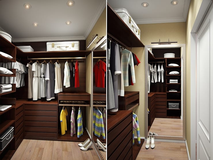 Eclectic style dressing rooms by Студия дизайна интерьера Маши Марченко Eclectic