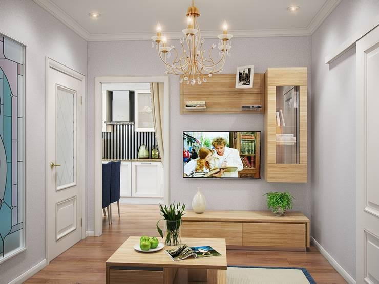 Квартира в стиле современная классика: Гостиная в . Автор – Студия дизайна интерьера Маши Марченко,