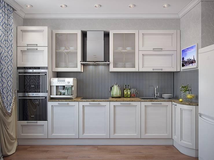 Квартира в стиле современная классика: Кухни в . Автор – Студия дизайна интерьера Маши Марченко,