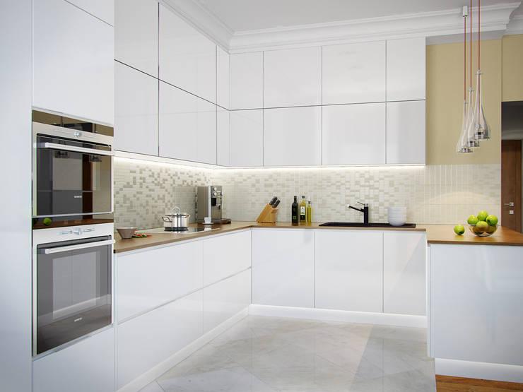 Квартира в ЖК <q>Космос</q>: Кухни в . Автор – Студия дизайна интерьера Маши Марченко,