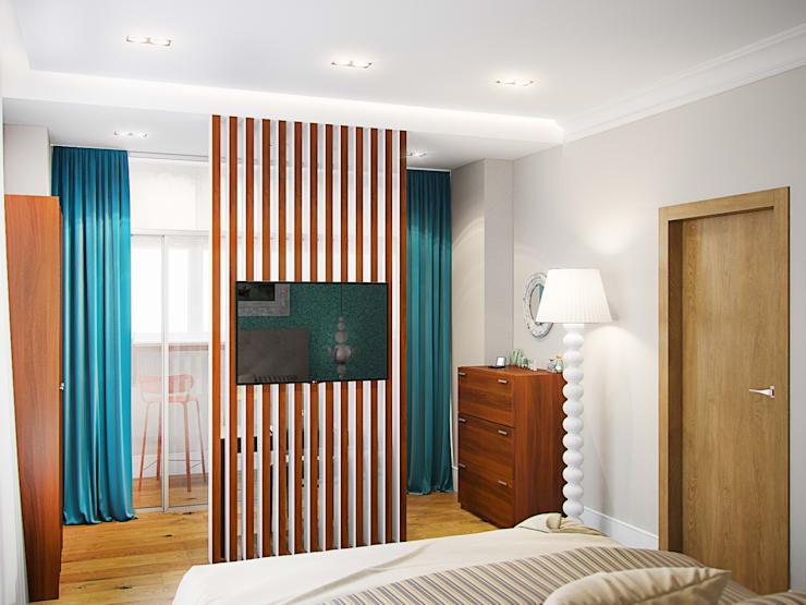 Квартира в ЖК <q>Космос</q>: Спальни в . Автор – Студия дизайна интерьера Маши Марченко,