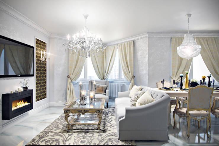 غرفة السفرة تنفيذ Студия дизайна интерьера Маши Марченко
