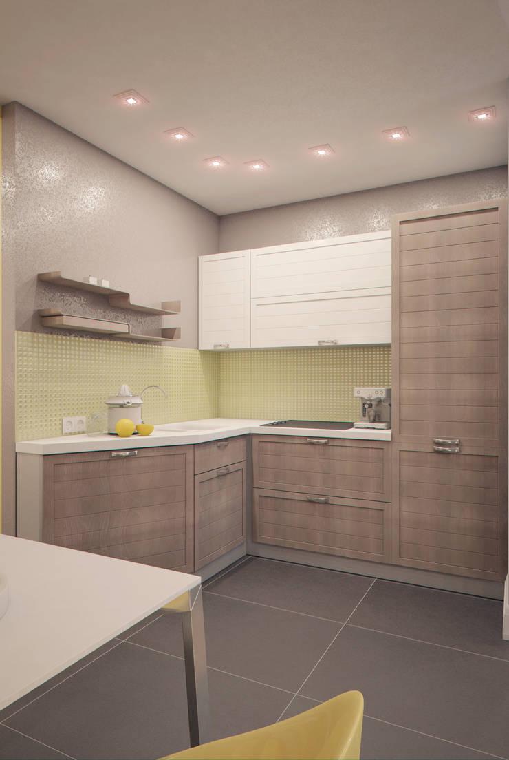Yellow on grey: Кухни в . Автор – Marina Sarkisyan