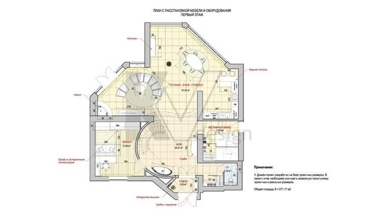 Дизайн коттеджа в коттеджном поселке «Эдельвейс»:  в . Автор – KV-Design