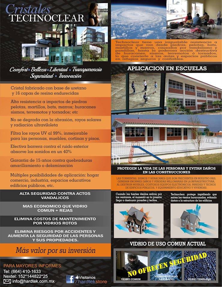 APLICACION DE CRISTALES TECHNOCLEAR EN ESPACIOS EDUCATIVOS: Escuelas de estilo  por Hardtekstore