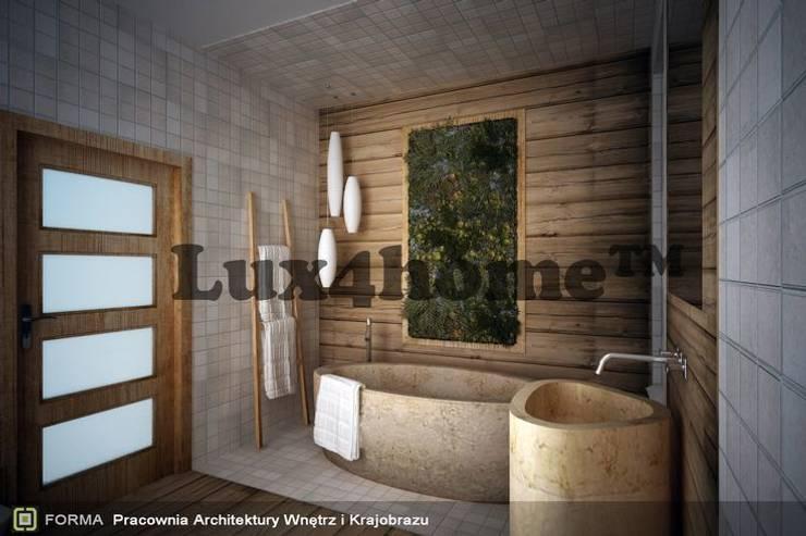Koncepcja łazienki - wanna marmurowa i umywalka: styl , w kategorii Łazienka zaprojektowany przez Lux4home™