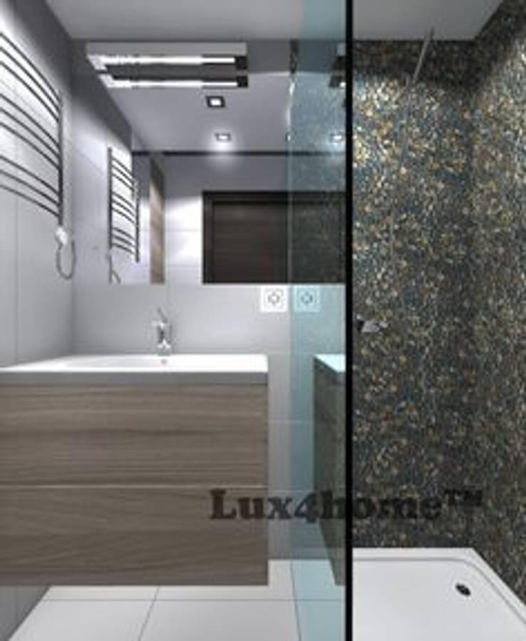 Prysznic z otoczaków - ściana z otoczaków pod prysznicem: styl , w kategorii Łazienka zaprojektowany przez Lux4home™
