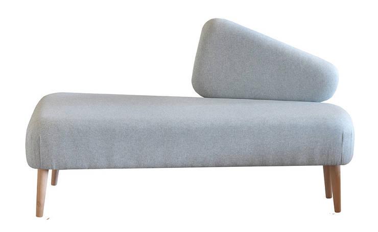 Sofka SHETLAND błękitna: styl , w kategorii Sypialnia zaprojektowany przez Monkey Machine Magdalena Jasyk Bartczak