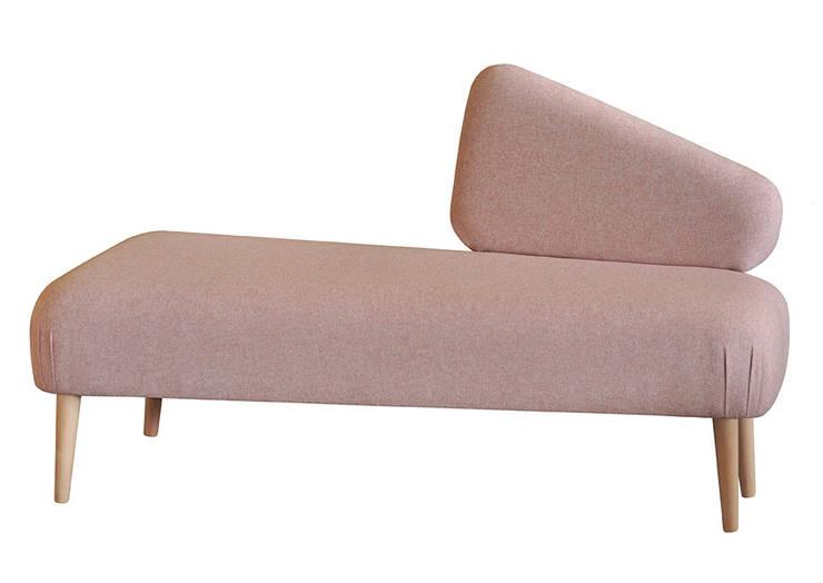 Sofka SHETLAND pudrowy róż: styl , w kategorii Sypialnia zaprojektowany przez Monkey Machine Magdalena Jasyk Bartczak