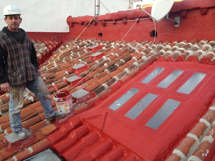 proceso de obra para rehabilitación de cubierta en PIZARRO 10 estudiocincocincouno 2012:  de estilo  de estudio551