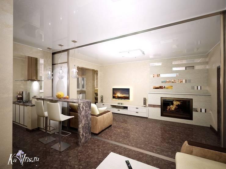 Вид с обденной зоны на гостиную:  в . Автор – kairis