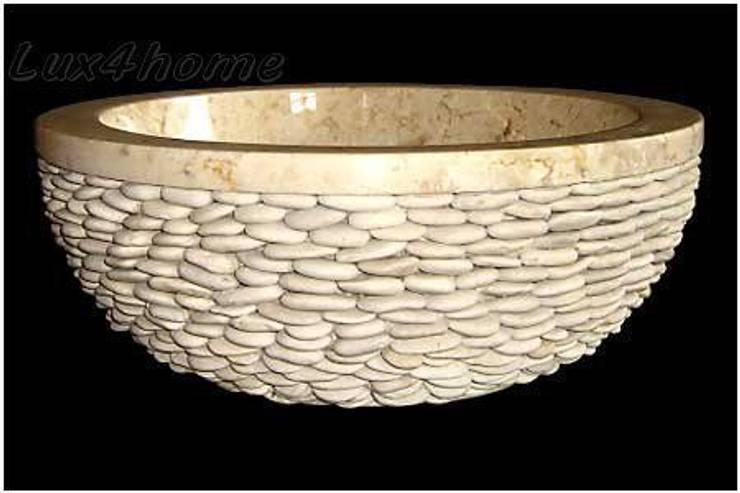 Umywalki z kamienia naturalnego: styl , w kategorii Łazienka zaprojektowany przez Lux4home™