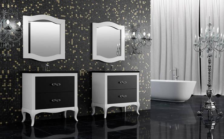 Coleccion BOHEME lacado blanco-negro: Baños de estilo moderno de ARTEHOGAR
