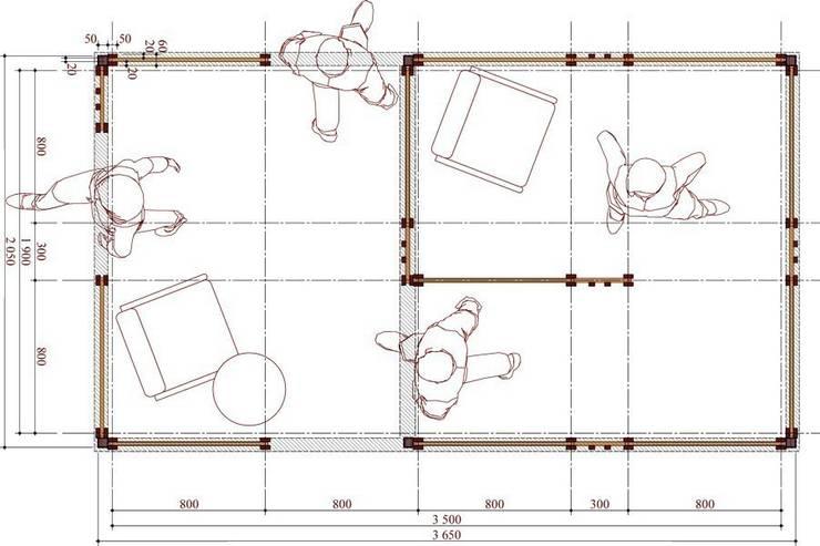 План павильона-раздевалки:  в . Автор – Бюро Акимова и Топорова