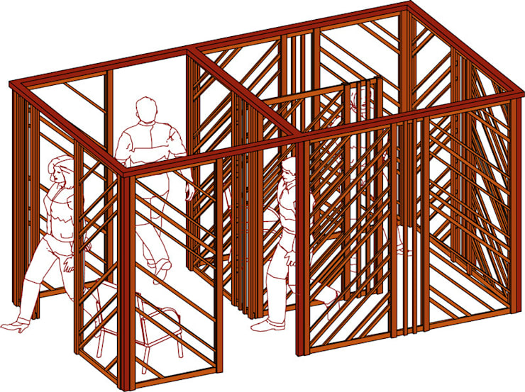 Схематический эскиз павильона-раздевалки:  в . Автор – Бюро Акимова и Топорова