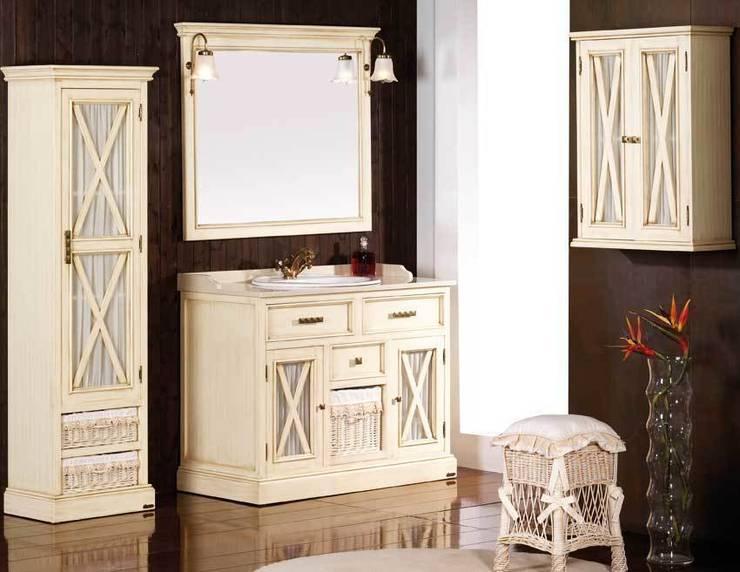 conjunto de baño de 108 en blanco glaseado: Baños de estilo  de ARTEHOGAR