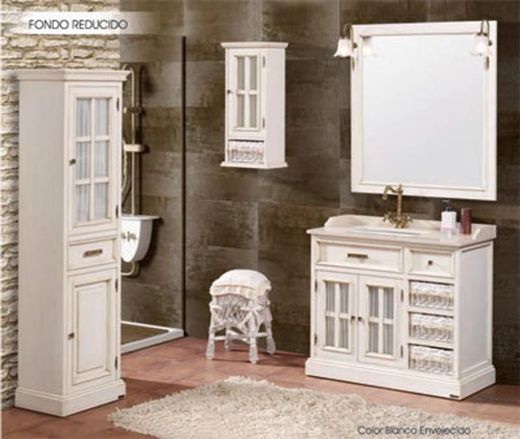 Conjunto de baño de 95 fondo reducido en blanco envejecido: Baños de estilo  de ARTEHOGAR