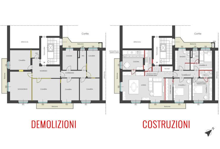 Pianta variante:  in stile  di Filippo Fassio Architetto