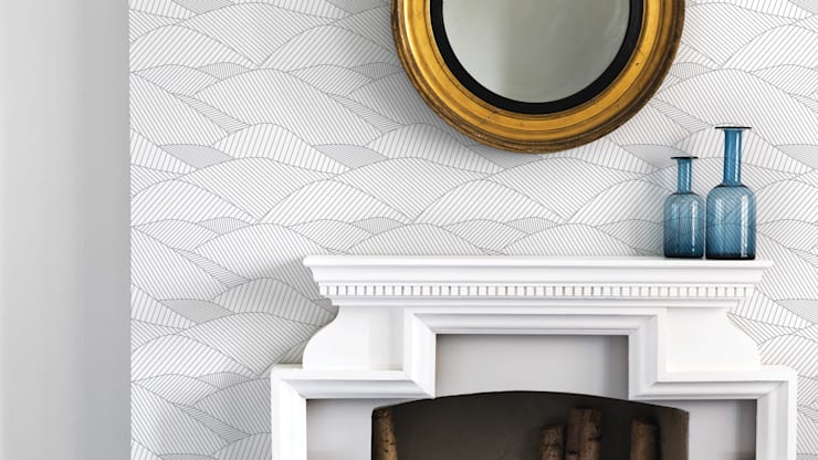 Bold & Noble South Downs Wallpaper in Heron Grey:  Walls & flooring by Bold & Noble