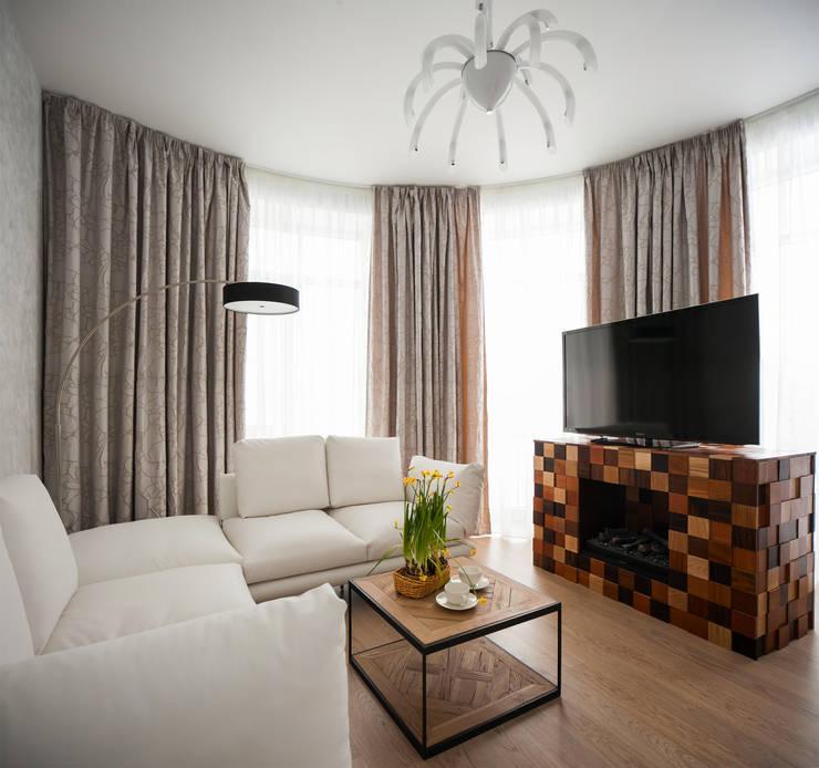 Квартира на Крестовском острове: Гостиная в . Автор – Студия дизайна интерьера Маши Марченко, Эклектичный