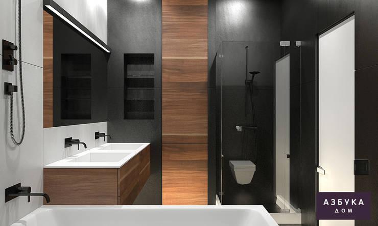 Пространство для жизни: Ванные комнаты в . Автор – Студия дизайна 'Азбука Дом'
