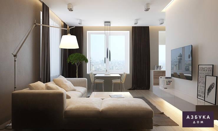 Пространство для жизни: Гостиная в . Автор – Студия дизайна 'Азбука Дом'