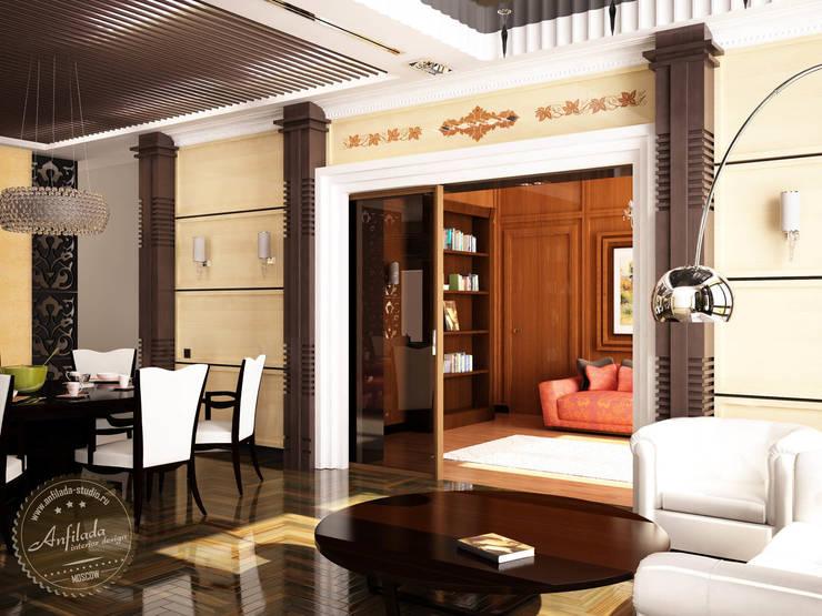 Гостиная Ар Деко: Гостиная в . Автор – Anfilada Interior Design