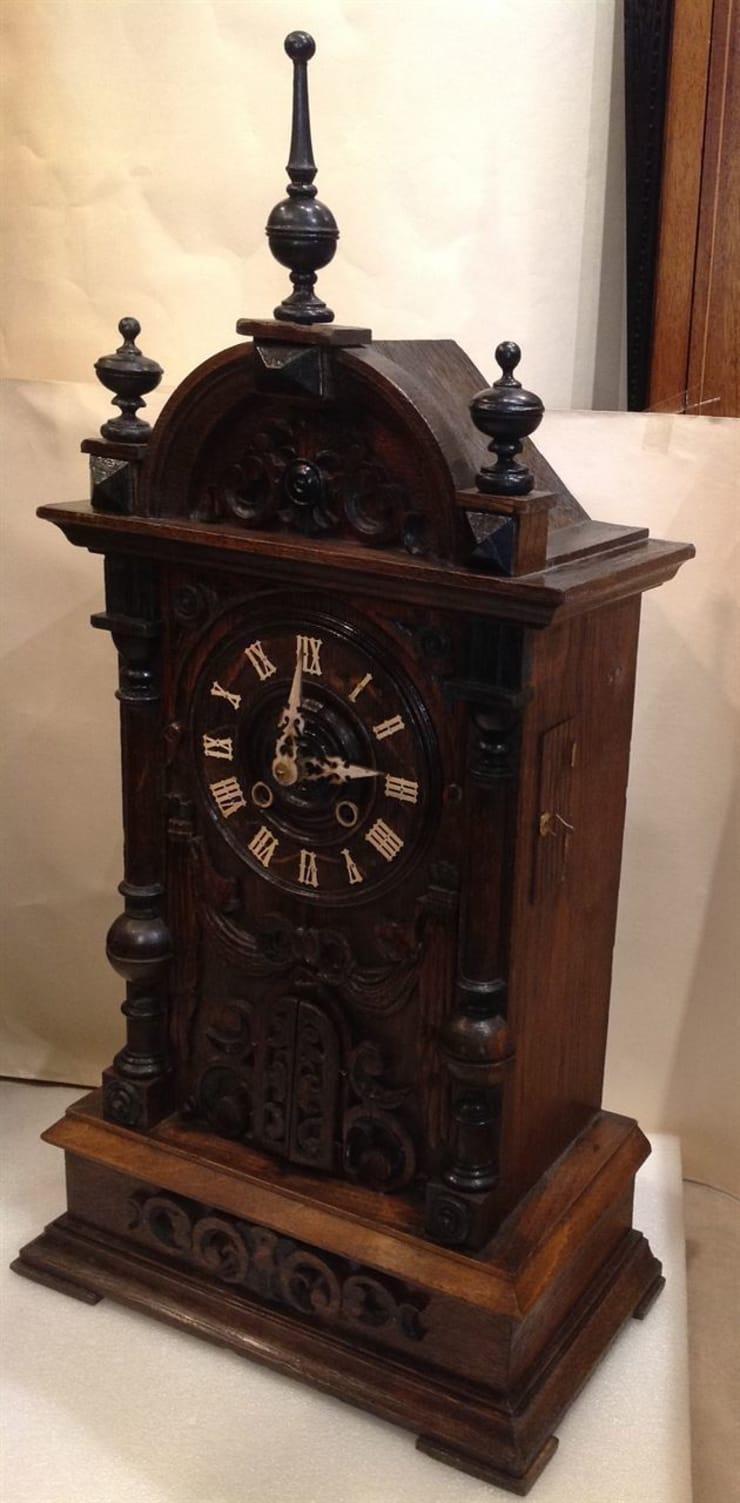 Black Forest Trumpeter Clock By London Antique Clock