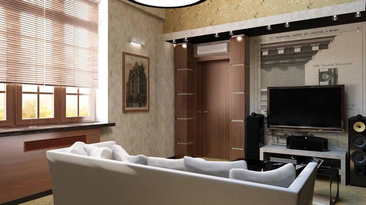 Мужская комната отдыха: Гостиная в . Автор – Anfilada Interior Design