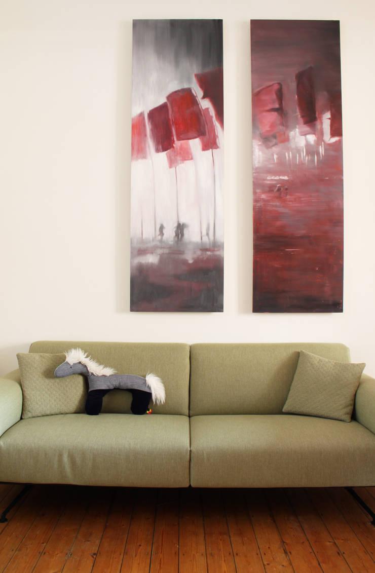 detail woonkamer:  Woonkamer door studio k, Modern