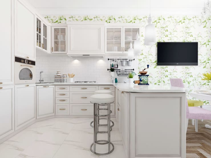 Квартира в ЖК <q>Парадный квартал</q>: Кухни в . Автор – Студия дизайна интерьера Маши Марченко,