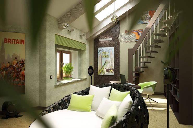 Зеленая комната: Гостиная в . Автор – Anfilada Interior Design