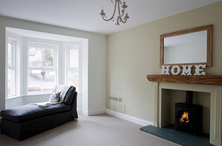 Shaftoe Cresent, Hexham:  Living room by MWE Architects
