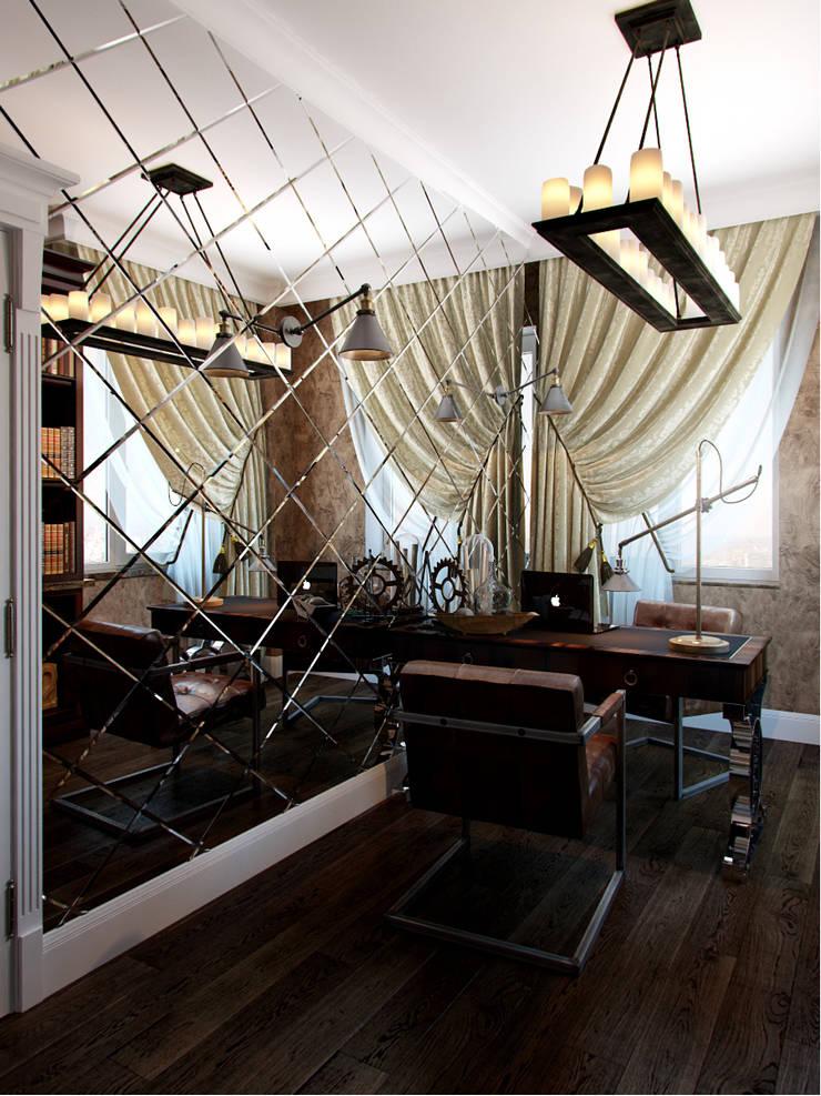 Квартира в ЖК <q>Новая История</q>: Рабочие кабинеты в . Автор – Студия дизайна интерьера Маши Марченко