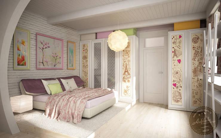 Романтическая спальня: Спальни в . Автор – Anfilada Interior Design