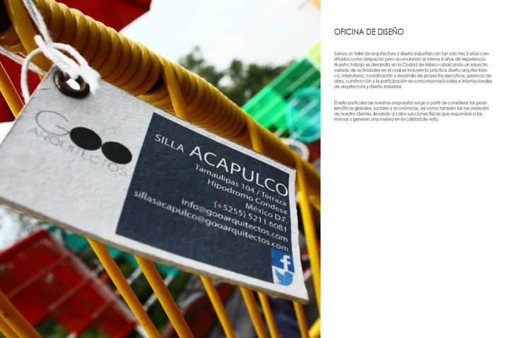 SILLA ACAPULCO: Jardín de estilo  por gOO Arquitectos