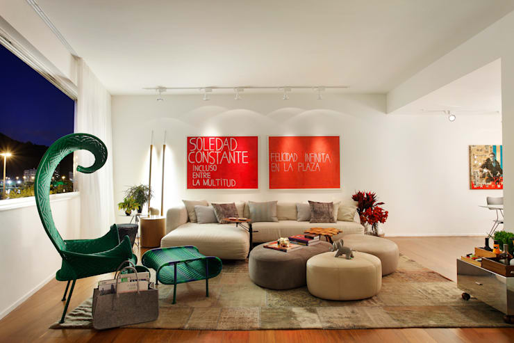 Livings de estilo  por Studio ro+ca
