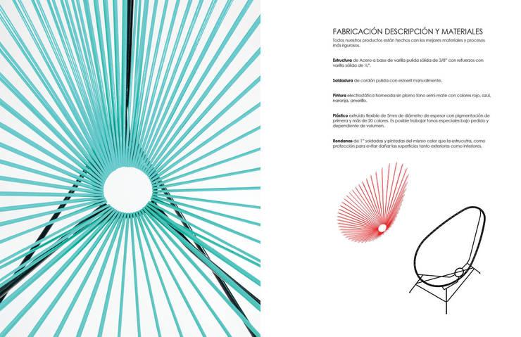 SILLA ACAPULCO: Hogar de estilo  por gOO Arquitectos