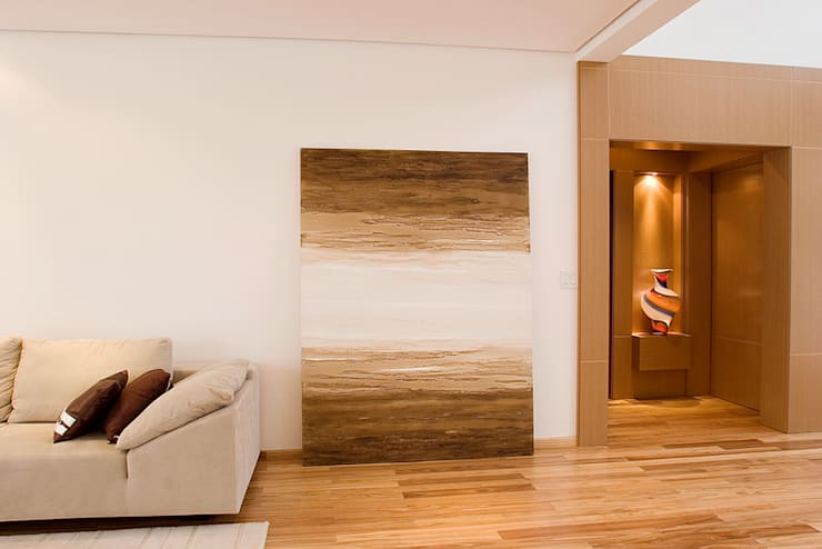 Detalhe da Sala de Estar: Salas de estar modernas por dsgnduo