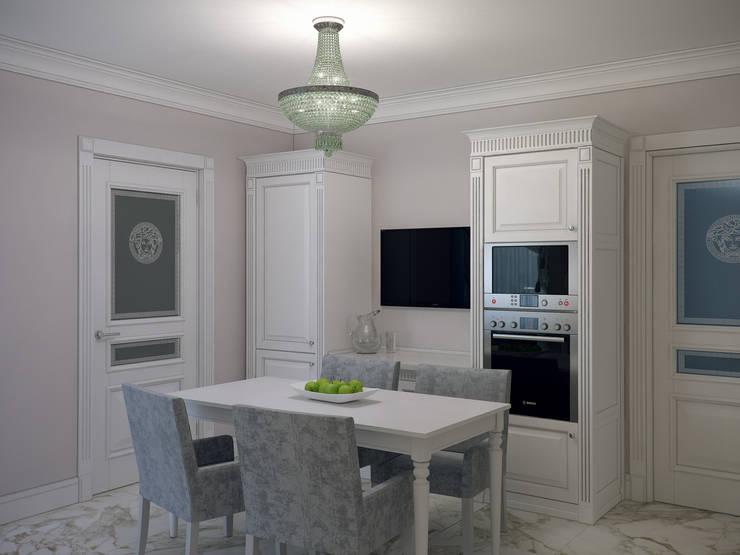 Квартира в мансарде на Петроградской стороне: Кухни в . Автор – Студия дизайна интерьера Маши Марченко