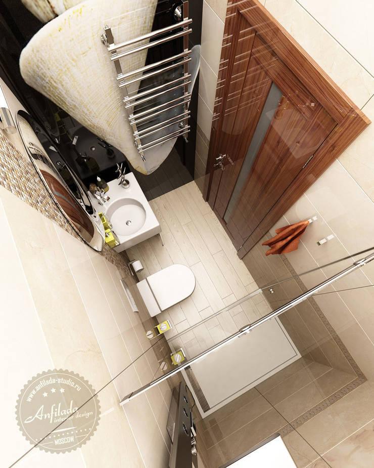 Санузел для гостей: Ванные комнаты в . Автор – Anfilada Interior Design